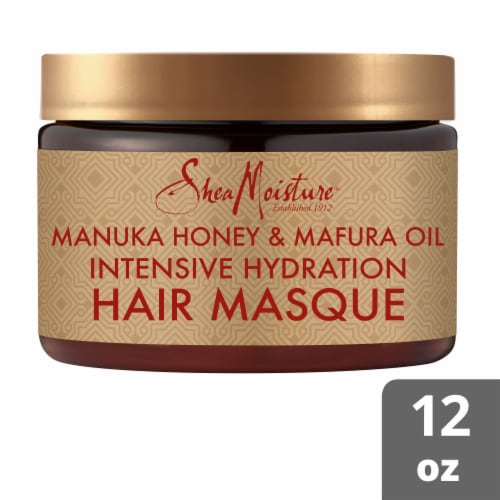 Shea Moisture Manuka Honey & Mafura Oil Intensive Hydration Hair Masque Perspective: front