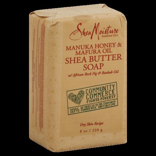 Shea Moisture Manuka Honey & Mafura Oil Shea Butter Soap Perspective: front