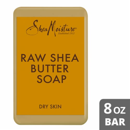 Shea Moisture Raw Shea Butter Soap With Frankincense and Myrrh Extract Perspective: front