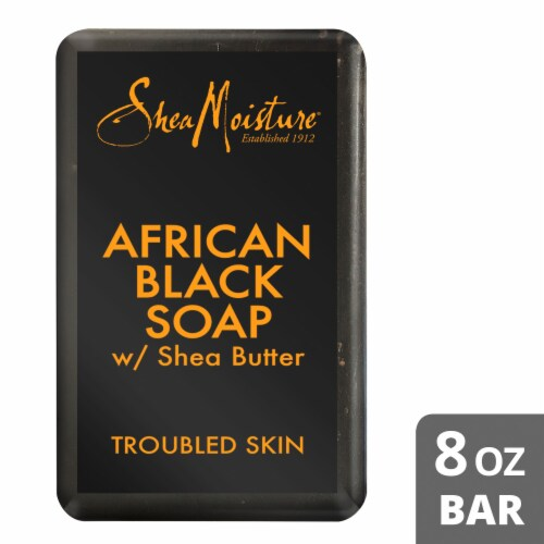 Shea Moisture African Black Soap with Shea Butter Bar Soap Perspective: front