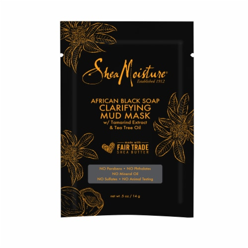 Shea Moisture African Black Soap Clarifying Mud Mask Perspective: front