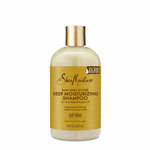 Shea Moisture Moisture Retention Raw Shea Butter Shampoo Sulfate Free Perspective: front