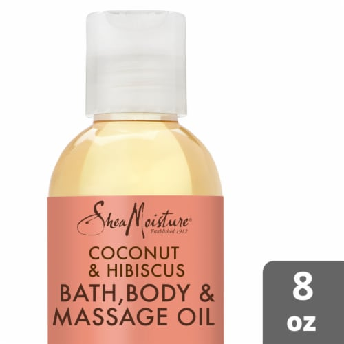 Shea Moisture Coconut & Hibiscus Firming & Toning Bath Body & Massage Oil Perspective: front