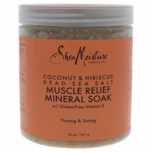 Coconut & Hibiscus Dead Sea Salt Muscle Relief Mineral Soak Perspective: front