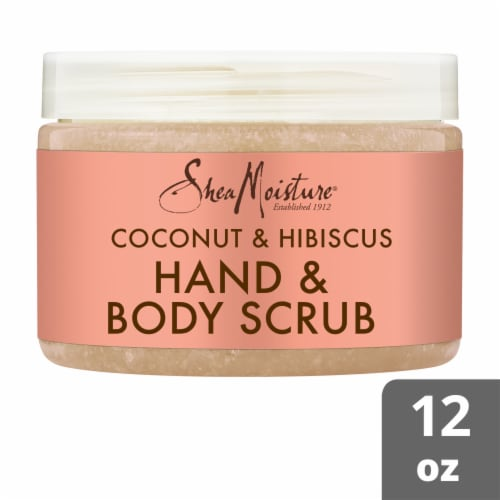 Shea Moisture Coconut & Hibiscus Illuminating Hand & Body Scrub Perspective: front