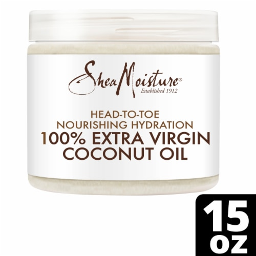 Shea Moisture Head-To-Toe 100% Extra Virgin Pure Coconut Oil Nourishing Hydration Perspective: front