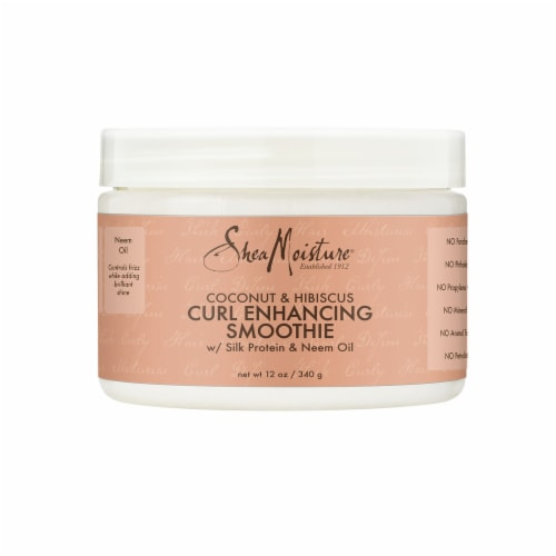 Shea Moisture® Sulfate-Free Coconut & Hibiscus Smoothie Curl Enhancing Cream for Curly Hair Perspective: front