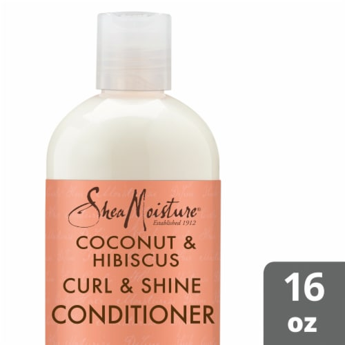 SheaMoisture Coconut & Hibiscus Curl & Shine Conditioner Perspective: front