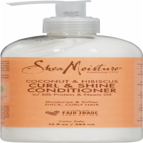 Shea Moisture Coconut & Hibiscus Curl & Shine Conditioner Perspective: front