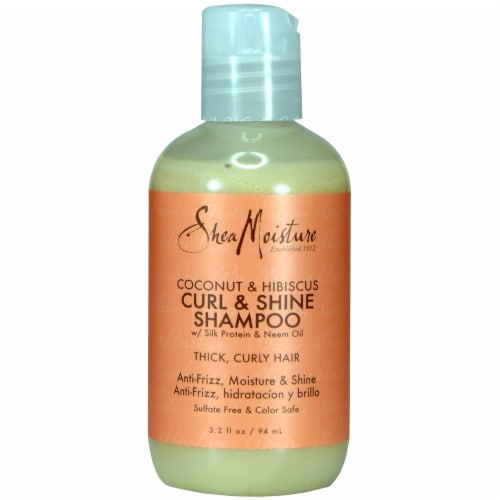 SheaMoisture Coconut and Hibiscus Curl and Shine Shampoo Perspective: front