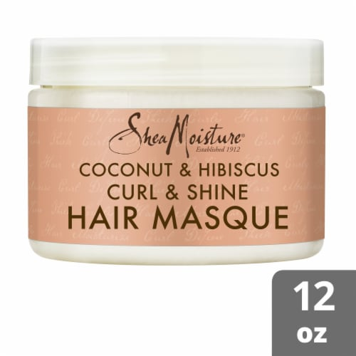 Shea Moisture® Coconut & Hibiscus with Shea Butter Hair Mask for Dry Curly Hair Perspective: front