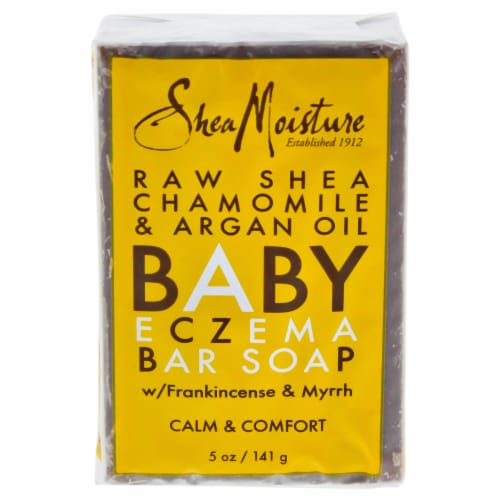 Raw Shea Chamomile & Argan Oil Baby Bar Soap Perspective: front