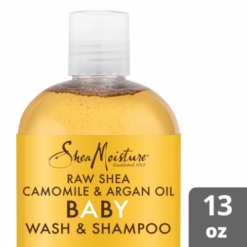 Shea Moisture Baby Raw Shea Chamomille And Argan Wash And Shampo Perspective: front