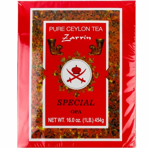 Zarrin - Pure Ceylon Tea OPA, Orange Pekoe A, 1LB (454g), Loose Leaf Tea Perspective: front