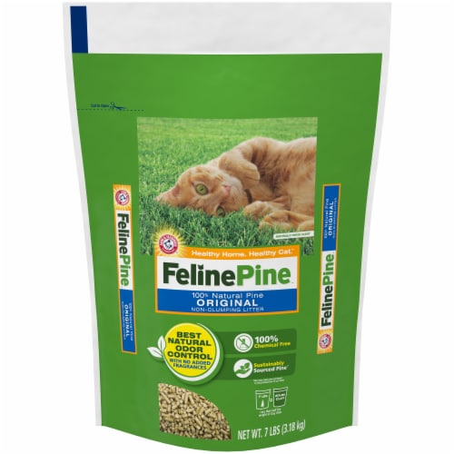 Feline Pine Original Non-Clumping Cat Litter Perspective: front