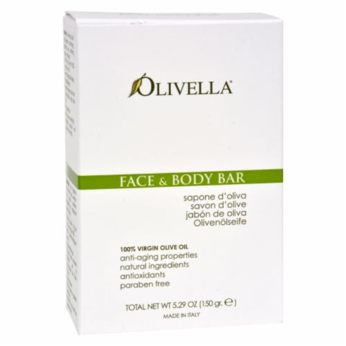 Olivella Olive Oil Face & Body Bar Perspective: front