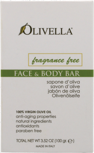 Olivella Unscented Olive Oil Bar Perspective: front