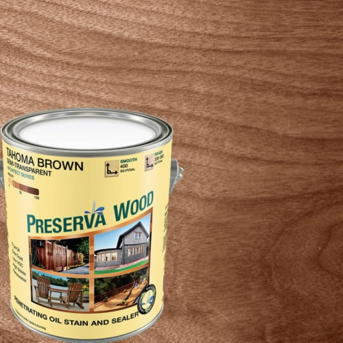 Preserva Wood  Semi-Transparent  Tahoma Brown  Oil-Based  Penetrating Wood Stain and Sealer Perspective: front