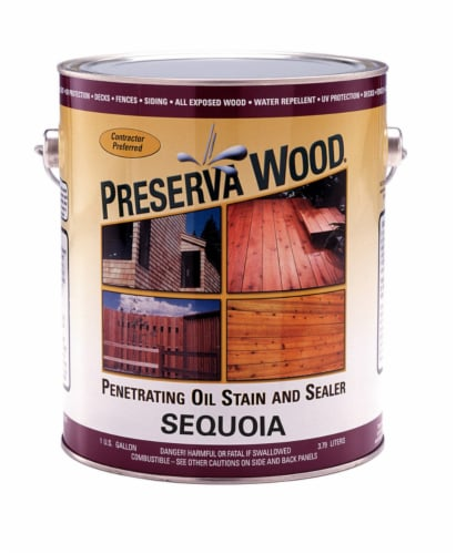 Preserva Wood  Transparent  Sequoia  Oil-Based  Stain and Sealer  1 gal. - Case Of: 4; Perspective: front