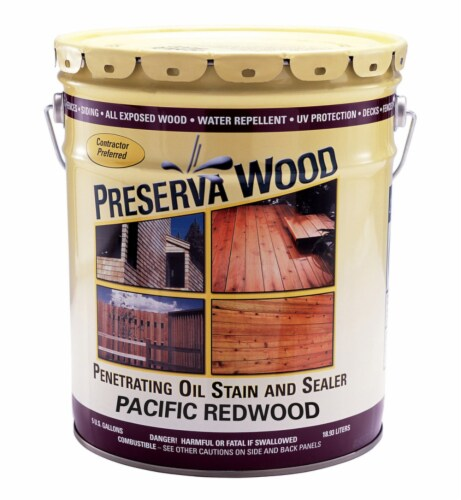 Preserva Wood  Transparent  Matte  Pacific Redwood  Oil-Based  Oil-Based  Stain and Sealer  5 Perspective: front