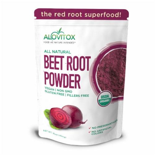 Certified Organic Beet Root Powder 16 oz Raw Vegan & Gluten Free (Beet Root Powder, 16 oz) Perspective: front