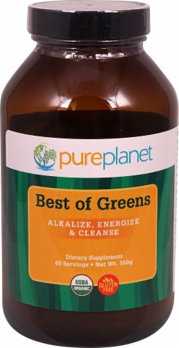 Pure Planet Best of Greens Dietary Supplement Perspective: front