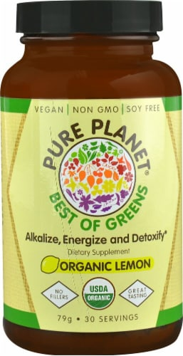 Pure Planet  Best of Greens   Organic Lemon Perspective: front