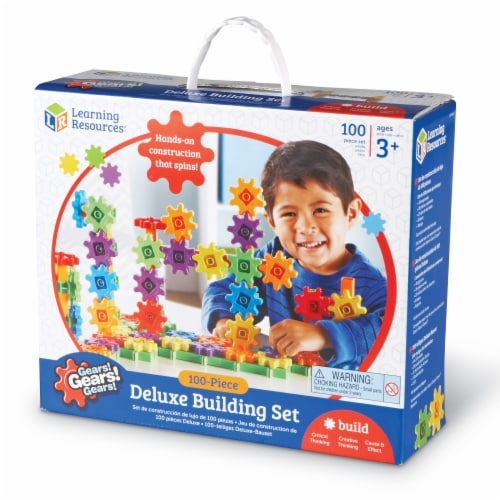 Learning Resources® Gears! Gears! Gears! Deluxe Building Set Perspective: front