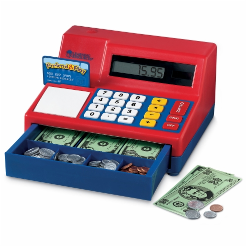 Learning Resources® Pretend & Play Calculator Cash Register Perspective: front