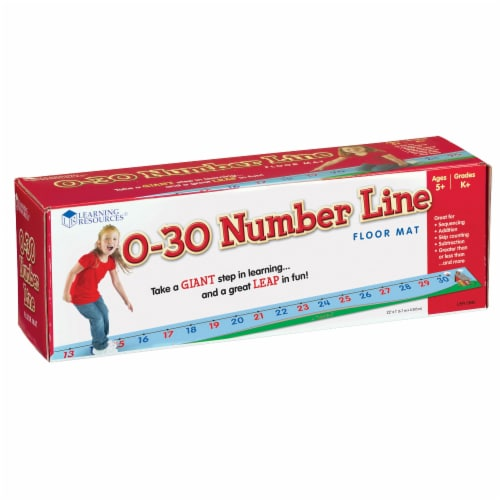Learning Resources® Number Line Floor Mat Perspective: front