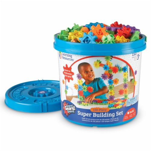 Learning Resources® Gears! Gears! Gears! Super Building Set Perspective: front