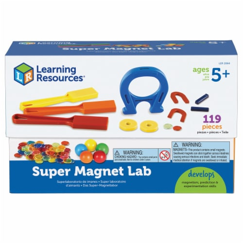 Learning Resources® Super Magnet Lab Kit Perspective: front