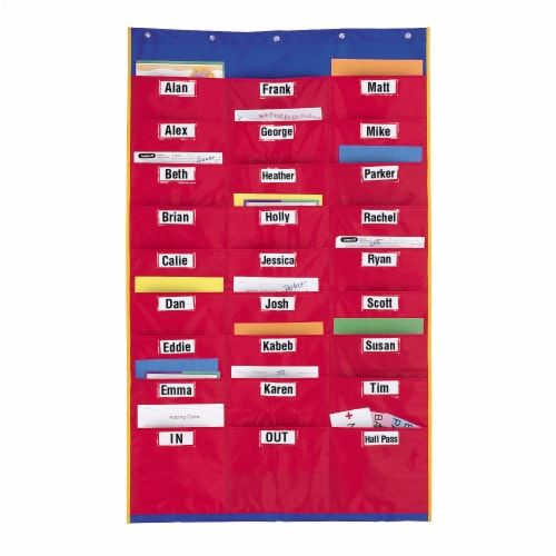 Learning Resources® Organization Station Pocket Chart Perspective: front