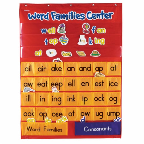 Learning Resources® Word Families & Rhyming Center Pocket Chart Perspective: front
