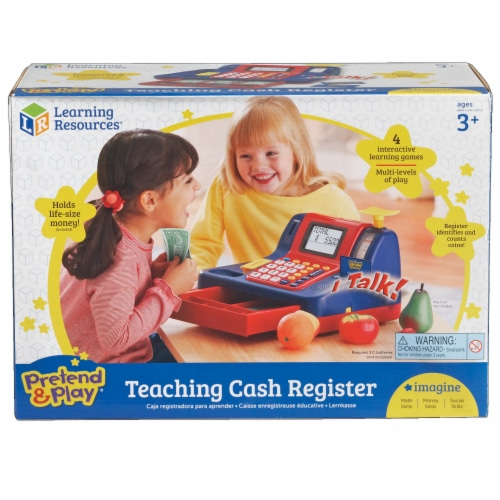 Learning Resources® Pretend & Play Teaching Cash Register Perspective: front