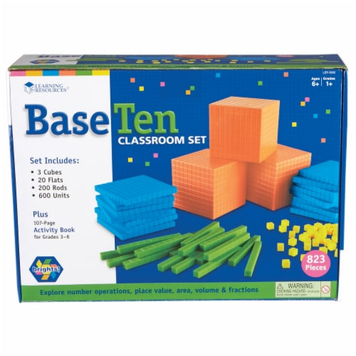 Learning Resources® Brights Base Ten Classroom Set Perspective: front