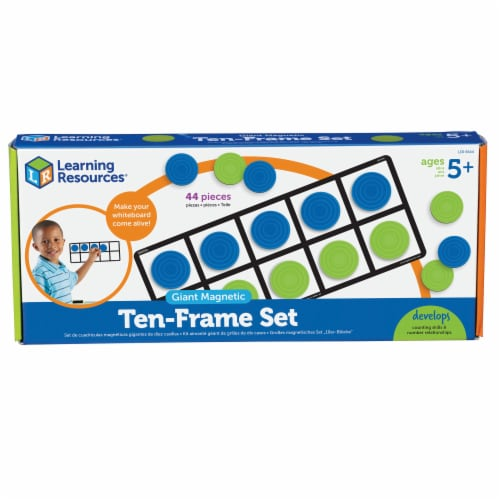 Learning Resources® Giant Magnetic Ten-Frame Set Perspective: front