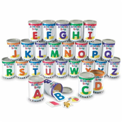 Learning Resources Alphabet Soup Sorters Perspective: front