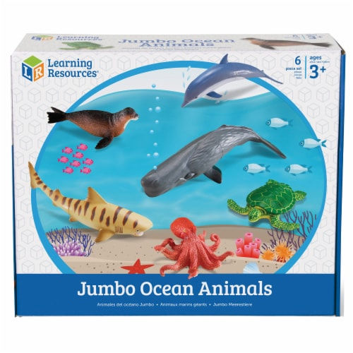 Learning Resources Jumbo Ocean Animals Perspective: front