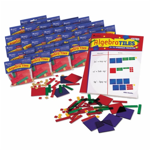 Learning Resources® Algebra Tiles™ Classroom Set Perspective: front