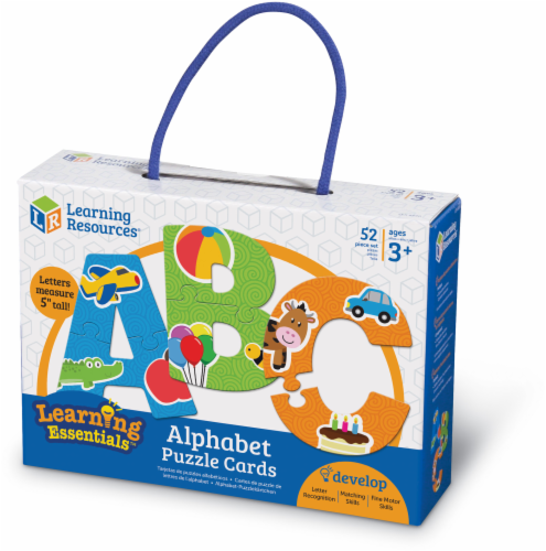 Learning Resources Alphabet Puzzle Cards Perspective: front