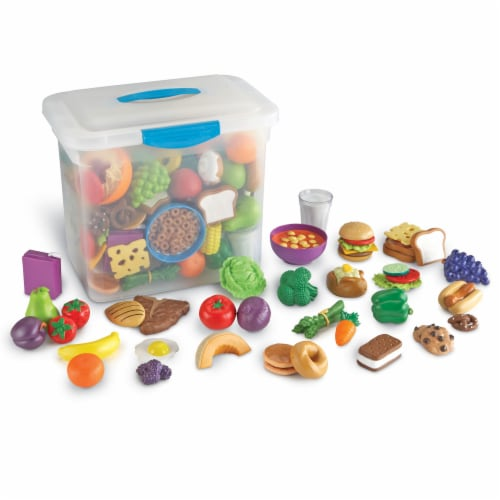 Learning Resources® New Sprouts Classroom Play Food Set in Large Tote Perspective: front