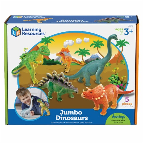 Learning Resources® Jumbo Dinosaurs Perspective: front