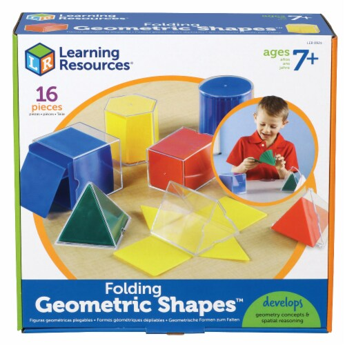 Learning Resources® Folding Geometric Shapes™ Perspective: front
