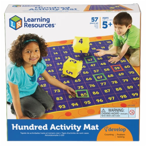 Learning Resources® Hip Hoppin' Hundred Mat Perspective: front