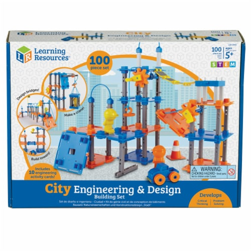 Learning Resources® City Engineering & Design Building Set Perspective: front
