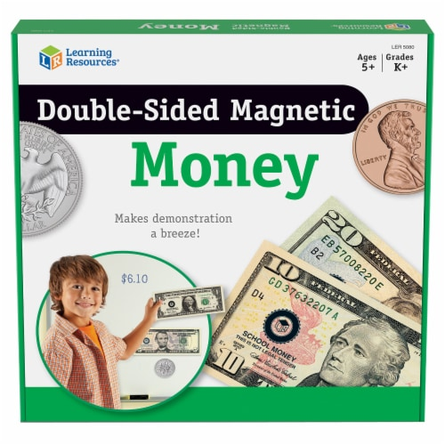 Learning Resources® Double-Sided Magnetic Money Set Perspective: front