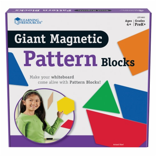 Learning Resources® Giant Magnetic Pattern Blocks Perspective: front