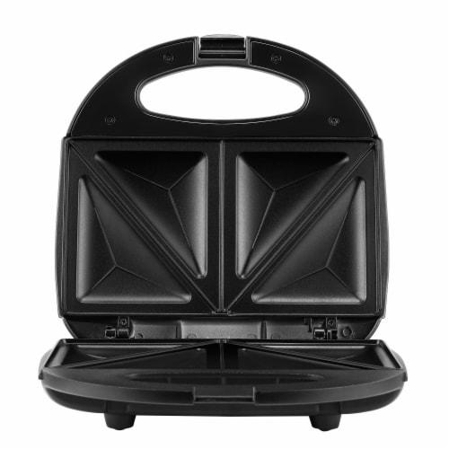 Continental 2-Slice Sandwich Maker Black Perspective: front