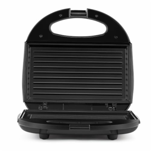 Continental 2-Serve Indoor Contact Grill and Sandwich Maker, Black Perspective: front